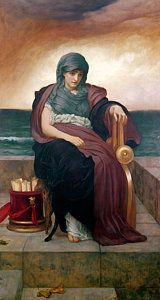 Melancholy Painting - The Tragic Poetess by Frederic Leighton