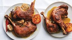 Stock-Braised Turkey Legs Recipe | Bon Appetit