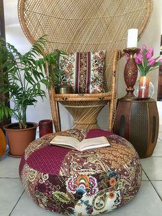 unfilled medium bali boho floor cushion cover made in australia