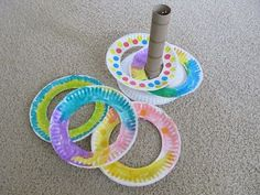 This would be a great activity for an indoor recess. The children could make the ring and decide what the game rules are. Tot School, School Games, School Week, Diy For Kids, Crafts For Kids, Sunday School Crafts, Games For Sunday School, Ring Toss, Toddler Fun