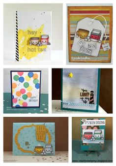 Projects created by Sweet friends using Sweet Stamp Shop Oolong, Balloons and Sail Away Sayings stamp sets.