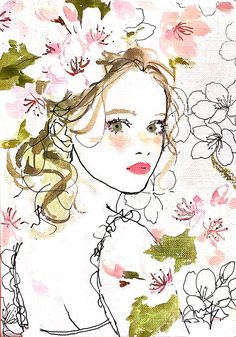 Risultati immagini per Miyo Tsuchiya Art And Illustration, Fashion Illustration Face, Illustrations And Posters, Watercolor Illustration, Watercolor Art, Portrait Art, Cute Art, Art Drawings, Just For You
