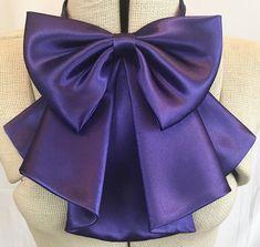 Bow Scarf, Bow Blouse, Women's Neck Ties, Purple Satin, Collar Pattern, Bubblegum Pink, Pattern Illustration, Couture, Satin Bows