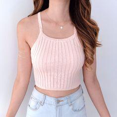 Chloe Crop Top - Pink