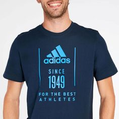Camiseta adidas 1949 Marino Hombre Ropa Under Armour, Under Armour Outfits, Sport Shirt Design, Polo Design, Sports Shirts, Tee Shirts, Camisa Polo, Mens Clothing Styles, Cool Tees