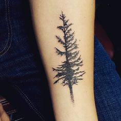 Douglas Fir tree tattoo, but I would add roots to the bottom outlining the shape of Oregon