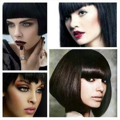 Makeup look for brown hair