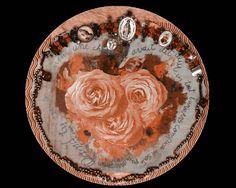 Quadro coração de Rosas. By Christina Oiticica