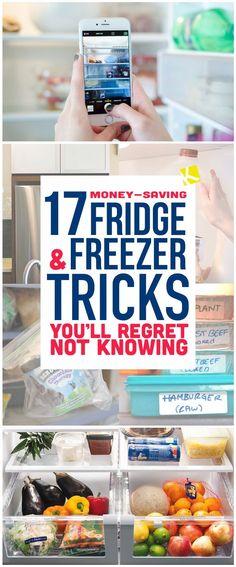 17 Money-Saving Fridge & Freezer Tricks You'll Regret Not Knowing - The Krazy Coupon Lady Freezer Organization, Refrigerator Organization, Organization Hacks, Organizing Ideas, Kitchen Organization, Freezer Storage, Food Storage, Saving Ideas, Money Saving Tips