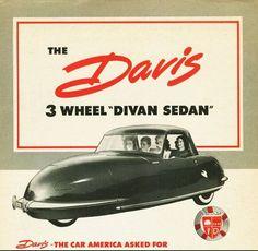 """Davis 3 wheel """"Divan sedan"""""""