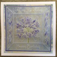 Artwork designed by Barbara Gray using Clarity stamps and products. The home of clear stamps. Clarity Card, Barbara Gray Blog, Christmas Flower Arrangements, Parchment Cards, Agapanthus, Very Happy Birthday, Artwork Design, Clear Stamps, Birthday Cards