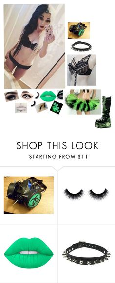 """""""Raver Girl #2"""" by kristina-shadowheart ❤ liked on Polyvore featuring GAS Jeans, Lime Crime and CO"""