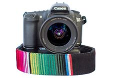 Bohemian Camera Strap Serape with Pink by SamAndKateDesign on Etsy