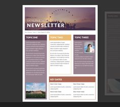 Nice 15 Free Microsoft Word Newsletter Templates For Teachers U0026 School   XDesigns