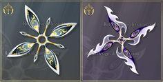 Shurikens adopts 6 (CLOSED) by Rittik-Designs on DeviantArt Anime Weapons, Fantasy Weapons, Ninja Weapons, Fantasy Drawings, Fantasy Art, Shuriken, Art Corner, Weapon Concept Art, Magic Art