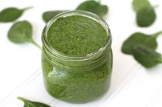 Best Low-Fat Recipes on the Net (September 2013 Edition): Spinach Pumpkin Pesto recipe by Dr. Ritamarie's Vibrant Living Blog