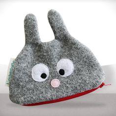 Bunny Zipper Pouch by LaPetiteEcharlotte: $27 #Bunny_Pouch #LaPetiteEcharlotte
