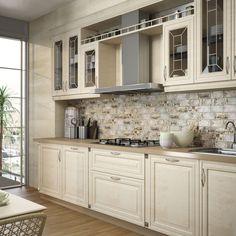 Rustikální kuchyni sluší mozaika, ale to pouze v případě, že samotná linka není příliš zdobná. Nostalgy mozaika 669 Kč/ks, Prodává Los Kachlos