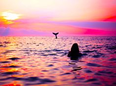 surf with whales Paradis Tropical, Beautiful Places, Beautiful Pictures, Beautiful Ocean, All Nature, Summer Of Love, Pink Summer, Summer Sunset, Under The Sea