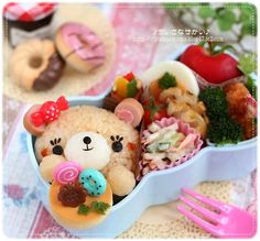sweets  time bear bento