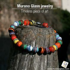 This stunning #MuranoGlass bracelet, featuring colourful beads, i s entirely handcrafted. Its unique design and lots of colours makes it ideal for #summers. #Homedecor #fashion Check for 'Vetro Artistico® Murano' seal of guarantee when buying a Murano glass product! Visit www.muranoglass.com