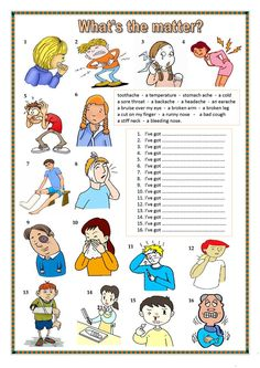 What's the matter? worksheet - Free ESL printable worksheets made by teachers
