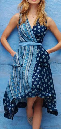 Eclipsed Wrap Dress