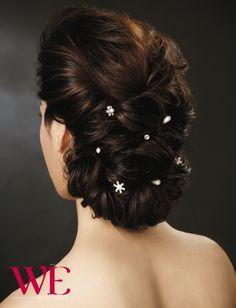 Trendy Ideas hair bun art inspiration - All For Hairstyles DIY My Hairstyle, Bride Hairstyles, Hairstyles Haircuts, Pretty Hairstyles, Bridal Hair Buns, Bridal Hairdo, Hairdo Wedding, Long Hair Cuts, Hair Trends