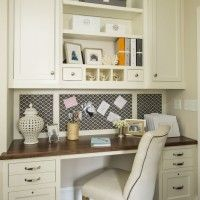 I love the fabric covered cork board idea! I could do something like this by my work station in the craft room...