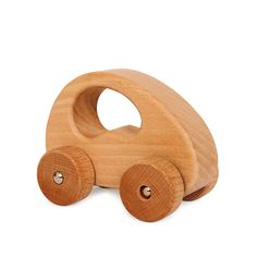 This lovely wooden car is great for Baby's