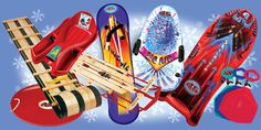 Paricon Sleds - made in South Paris, Maine #madeintheusa #toys