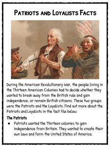 Patriots vs Loyalists Worksheets, Facts and Definition For Kids 4th Grade Social Studies, Social Studies Worksheets, Social Studies Classroom, Teaching Social Studies, Teaching History, Daughters Of American Revolution, Virginia Studies, Us History, Ancient History