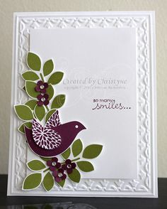White card base with an embossed border.