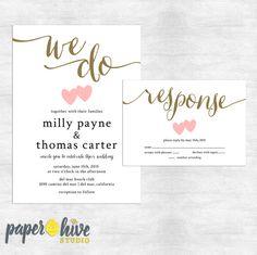 Paperhive Etsy Wedding Invitations