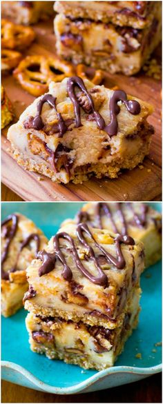 Everyone will BEG you for this Peanut Butter Cup Cheesecake Bar recipe. I love the salty pretzel crust!