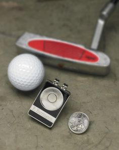Personalized state quarter ball marker/belt clip