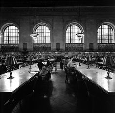 New York Public Library reading room --- I was 10 years old and hung out at the library every day.