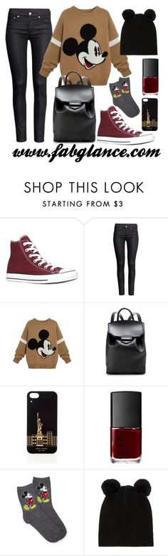 """#OOTD: Mickey Mania"" by fabglance ❤ liked on Polyvore featuring H&M, Alexander Wang, Henri Bendel, NARS Cosmetics, Forever 21 and mickeymouse"