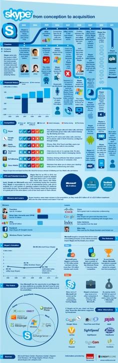 Skype History Infographic