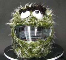 Oscar the Grouch Helmet Cover Our Oscar the Grouch Motorcycle Helmet Cover are finally here! Cool Bike Helmets, Biker Gear, Motorcycle Helmets, Motorcycle Cover, Motorcycle Gear, Oscar The Grouch, Helmet Covers, Helmet Paint, Custom Helmets
