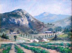 Beautiful painting of our vineyard