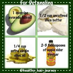 Hair Detangler - avocado, shea butter, olive oil, apple cider vinegar