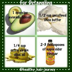 Hair Detangler - avocado, shea butter, olive oil, apple cider vinegar