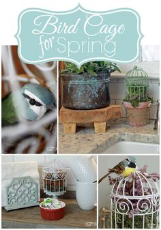 This little Bird Cage Craft can be adapted in so many ways...but however you put it together, it's a perfect spring decoration!