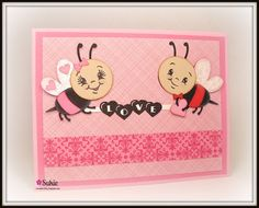Love card using the Peachy Keen Black Eyed Peaches Assortment stamps.
