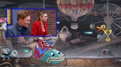 Conan O'Brien And Kate Upton Share A Moment Playing Cuphead Together