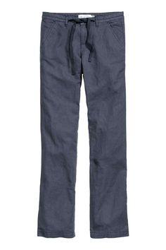 Kalhoty z lněné směsi | H&M