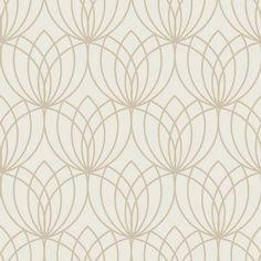 Muriva Lotus Geometric Gold Metallic Wallpaper - 148502 - 8Y-SGUW-T0C2 Geometric Wallpaper Rose Gold, Lotus Wallpaper, Star Wallpaper, Embossed Wallpaper, Glitter Wallpaper, Modern Wallpaper, Textured Wallpaper, Wall Wallpaper, Silver Wallpaper