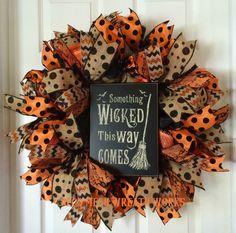 Halloween Wreath Halloween Wreaths Witch by DecoMeshWreathWorks