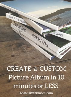 Photography Tips | Create a picture book in 10 minutes or LESS!